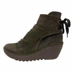 FLY London Women's Yama Ankle Wedge Bootie 39